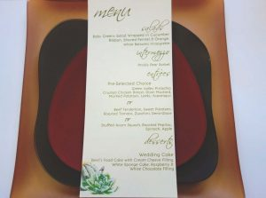 custome designed menus