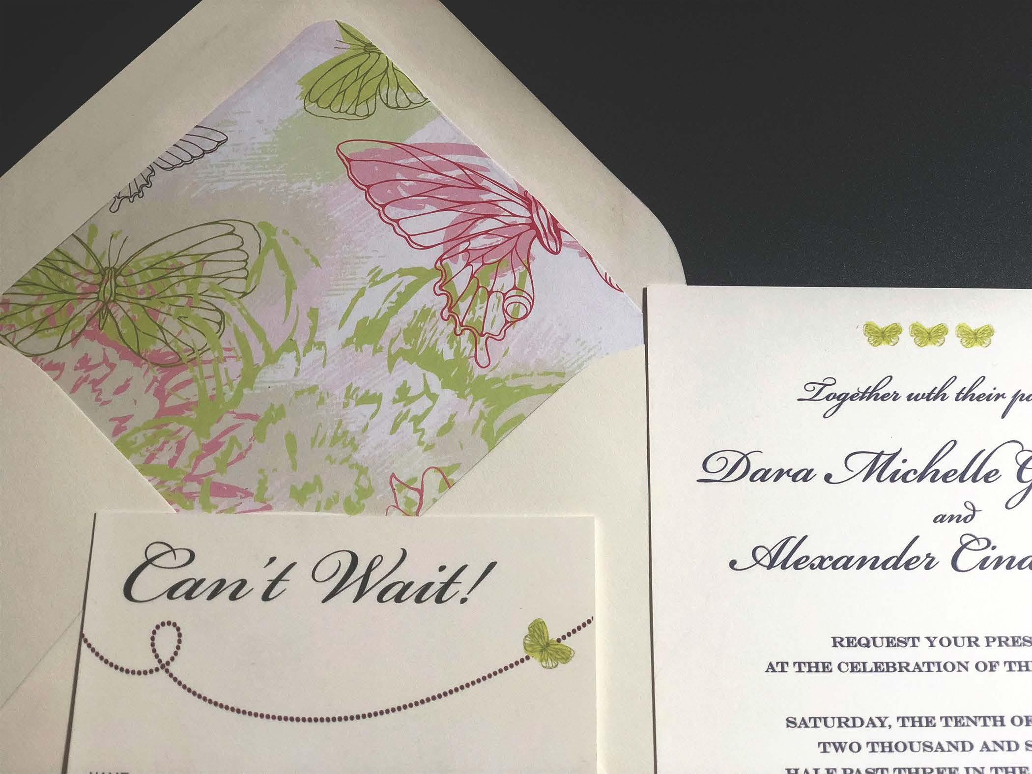 Wedding Invitations Tucson: Butterfly Wedding Invitations Custom Designed In Tucson