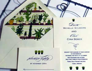 Cactus Weddding Invitation