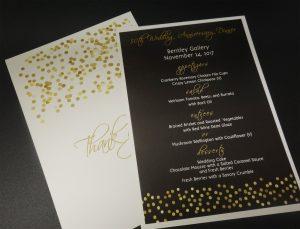 custom designed menus