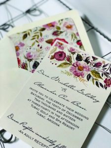 Flowered Wedding Invitations