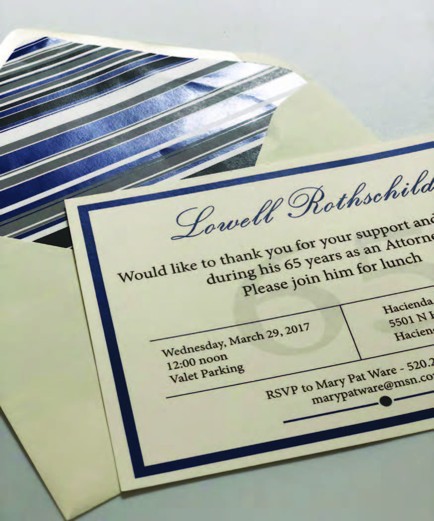 Wedding Invitations Tucson: Custom Party Invitations, Custom Designed For All Your