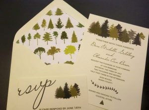 forest wedding invitaion