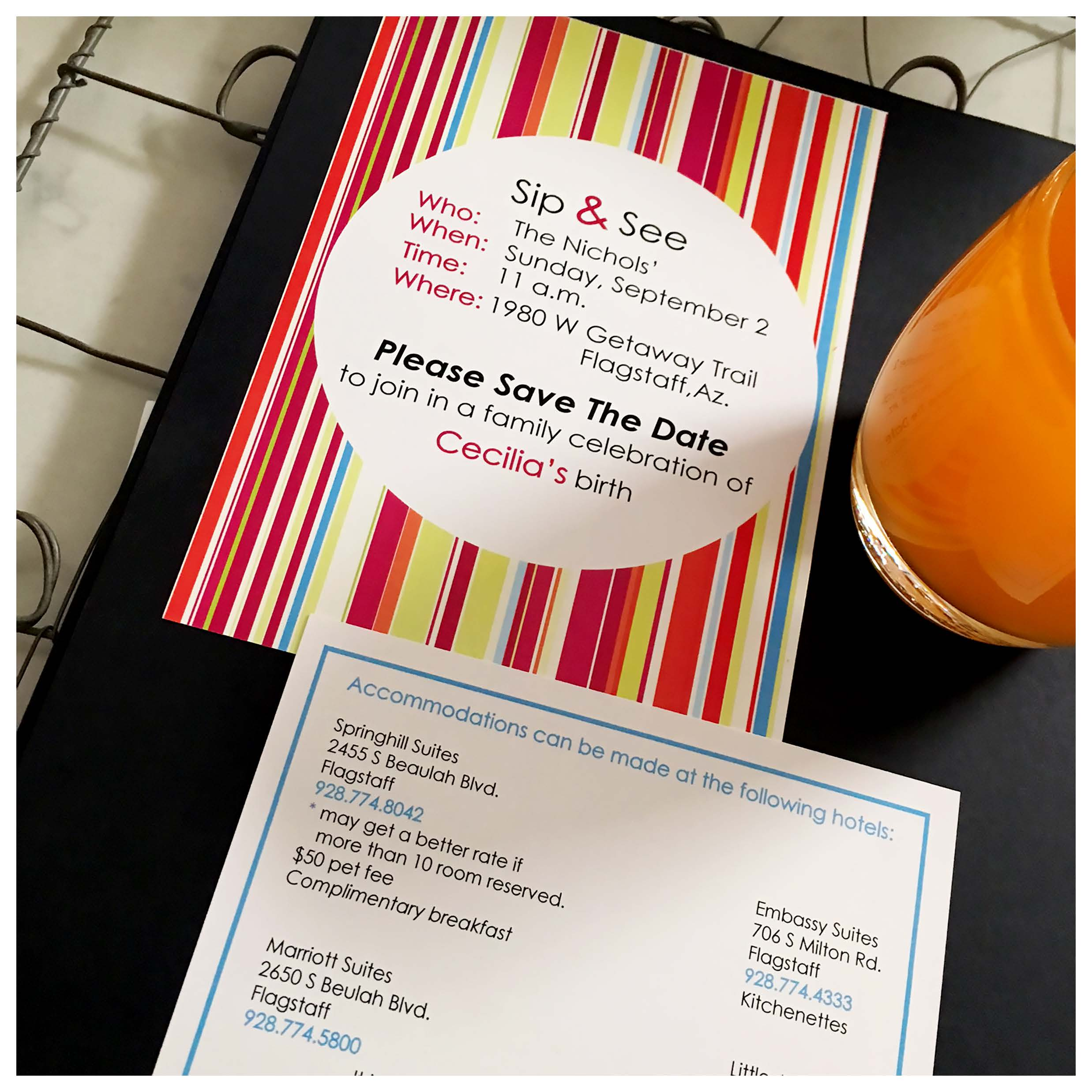 Wedding Invitations Tucson: Sip And See Baby Shower Invitations Custom Designs In