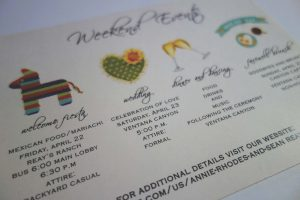 wedding weekend events program